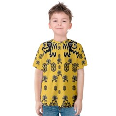 Disco Dancing In The  Tribal Nature  Kid s Cotton Tee by pepitasart