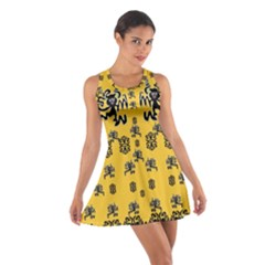 Disco Dancing In The  Tribal Nature  Racerback Dresses by pepitasart