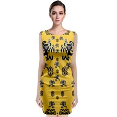Disco Dancing In The  Tribal Nature  Classic Sleeveless Midi Dress by pepitasart