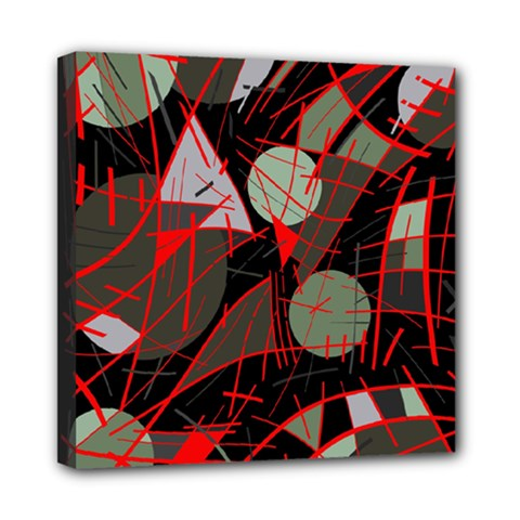Artistic Abstraction Mini Canvas 8  X 8  by Valentinaart
