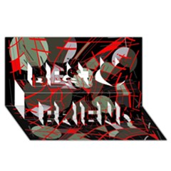 Artistic Abstraction Best Friends 3d Greeting Card (8x4)