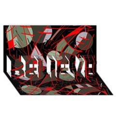 Artistic Abstraction Believe 3d Greeting Card (8x4)