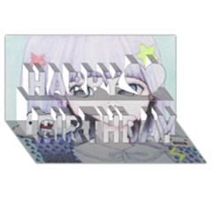 My Little Cloud Happy Birthday 3d Greeting Card (8x4)