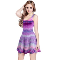 Tie Dye Color Reversible Sleeveless Dress