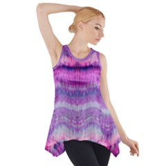 Tie Dye Color Side Drop Tank Tunic by olgart