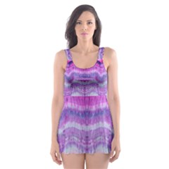 Tie Dye Color Skater Dress Swimsuit by olgart