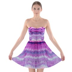 Tie Dye Color Strapless Dresses by olgart