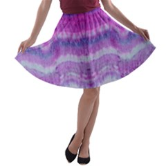 Tie Dye Color A Line Skater Skirt by olgart