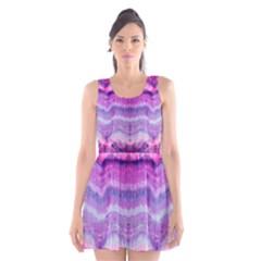 Tie Dye Color Scoop Neck Skater Dress by olgart