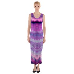 Tie Dye Color Fitted Maxi Dress by olgart