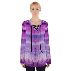Tie Dye Color Women s Tie Up Tee by olgart