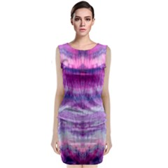 Tie Dye Color Classic Sleeveless Midi Dress by olgart