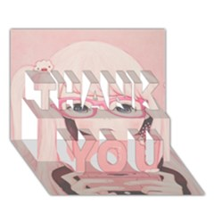 Gamegirl Girl Thank You 3d Greeting Card (7x5)
