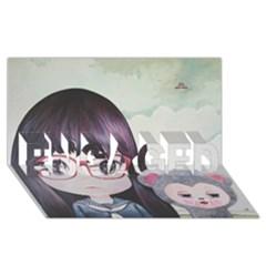 Close Encounter 4 Engaged 3d Greeting Card (8x4)  by kaoruhasegawa