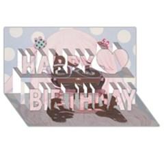Gamergirl 3 Happy Birthday 3d Greeting Card (8x4)