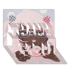 Gamergirl 3 Thank You 3d Greeting Card (7x5)