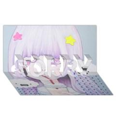 My Little Cloud 2 Sorry 3d Greeting Card (8x4)  by kaoruhasegawa