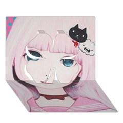 Sweet Tuesday Clover 3d Greeting Card (7x5)  by kaoruhasegawa