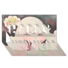 Soy Sauce Uchuuw Happy New Year 3d Greeting Card (8x4)
