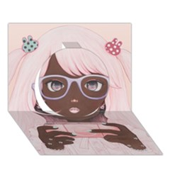 Gamergirl 3 P Circle 3d Greeting Card (7x5)