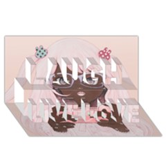 Gamergirl 3 P Laugh Live Love 3d Greeting Card (8x4)