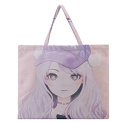 Ricehime Zipper Large Tote Bag