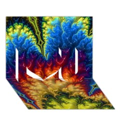 Amazing Special Fractal 25a I Love You 3d Greeting Card (7x5)  by Fractalworld