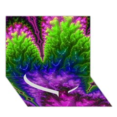 Amazing Special Fractal 25c Heart Bottom 3d Greeting Card (7x5)