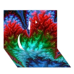 Amazing Special Fractal 25b Apple 3d Greeting Card (7x5)