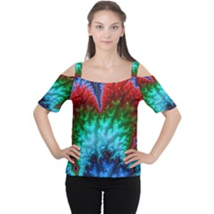 Amazing Special Fractal 25b Women s Cutout Shoulder Tee by Fractalworld