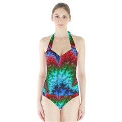 Amazing Special Fractal 25b Halter Swimsuit