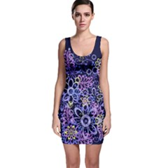Night Flowers Sleeveless Bodycon Dress by olgart