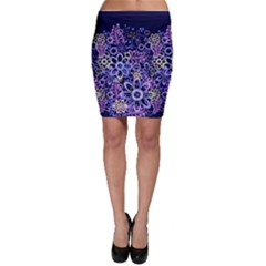 Night Flowers Bodycon Skirt by olgart