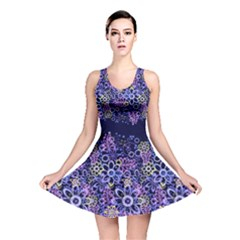 Night Flowers Reversible Skater Dress by olgart