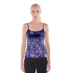 Night Flowers Spaghetti Strap Top by olgart