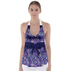 Night Flowers Babydoll Tankini Top by olgart