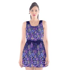 Night Flowers Scoop Neck Skater Dress by olgart