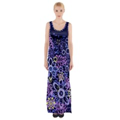 Night Flowers Maxi Thigh Split Dress by olgart