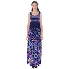 Night Flowers Empire Waist Maxi Dress by olgart