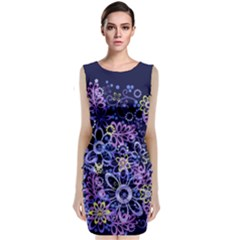 Night Flowers Classic Sleeveless Midi Dress by olgart