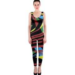 Optimistic Abstraction Onepiece Catsuit by Valentinaart