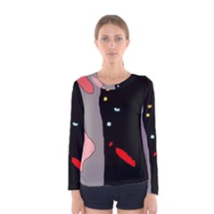 Crazy Abstraction Women s Long Sleeve Tee by Valentinaart