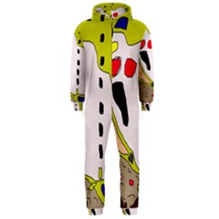 Yellow Abstraction Hooded Jumpsuit (men)