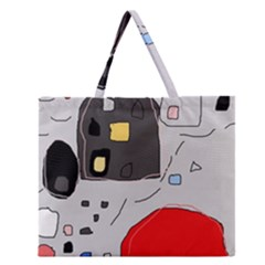 Playful abstraction Zipper Large Tote Bag by Valentinaart