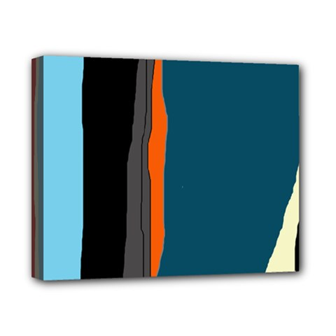 Colorful Lines  Canvas 10  X 8  by Valentinaart