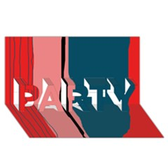 Decorative Lines Party 3d Greeting Card (8x4)