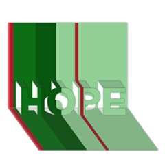 Green And Red Design Hope 3d Greeting Card (7x5)