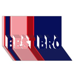 Pink And Blue Lines Best Bro 3d Greeting Card (8x4)