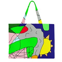 Crazy Abstraction Zipper Large Tote Bag by Valentinaart