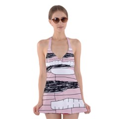 Worms Halter Swimsuit Dress